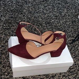 Burgundy Cato heels